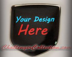 fits Dodge Magnum 2005-2008 Set of 2 - Rear Emblem 3D Decal badge – Your Unique Custom Design with any logo you like